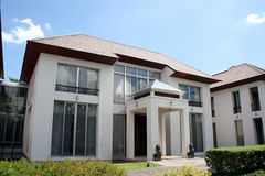 Oriental Style Modern House. A luxurious modern house with unique oriental style design Royalty Free Stock Image