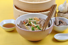 Oriental style noode with beef Royalty Free Stock Photos