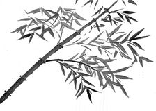 Oriental style painting, bamboo branches Royalty Free Stock Photo