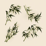 Oriental style painting, bamboo leaves Royalty Free Stock Images
