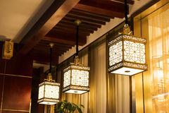 Oriental style  pendant lamps Royalty Free Stock Image