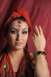 Oriental style portrait of young woman Royalty Free Stock Photography