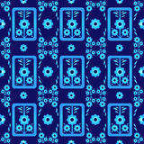 Oriental style seamless pattern vector eight Royalty Free Stock Images