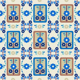 Oriental style seamless pattern vector. Series of patterns designed using the old Ottoman motifs stock illustration