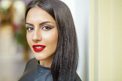 Oriental style. Sensual arabic woman model. Beautiful clean skin Stock Photography