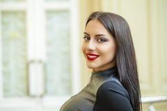 Oriental style. Sensual arabic woman model. Beautiful clean skin Stock Image