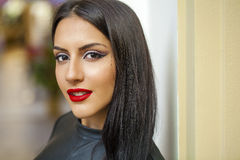 Oriental style. Sensual arabic woman model. Beautiful clean skin Stock Photo