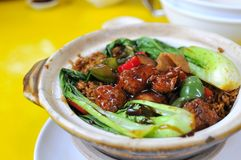Oriental style sweet and sour pork Royalty Free Stock Images