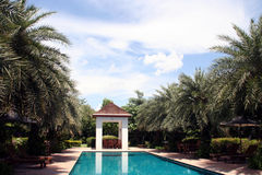 Oriental Style Swimming Pool Stock Images
