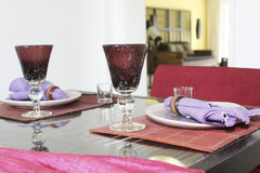 Oriental style tableware. On a table Stock Photography