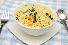 Oriental style vegetarian noodles Royalty Free Stock Photos
