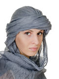 Oriental style woman in shawl Royalty Free Stock Photography