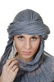 Oriental style woman in shawl Stock Image