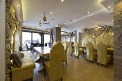 Oriental styled hotel restaurant interior Royalty Free Stock Photo