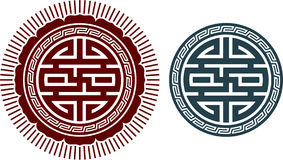 Oriental Swastika Composition Stock Photo
