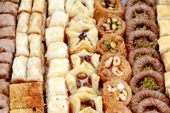 Oriental sweets. On the table Royalty Free Stock Photography