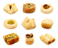 Oriental sweets. On a white background Stock Photo