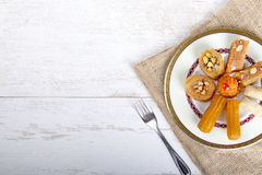 Oriental Sweets Background Stock Images