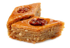 Oriental sweets baklava. On a white background Stock Image
