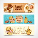 Oriental sweets banners Royalty Free Stock Photography