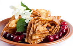 Oriental Sweets with cherries. Pahlava honey Stock Images