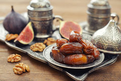 Oriental sweets with coffee Stock Photography