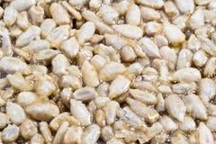 Oriental sweets Kozinaki. Sunflower seeds in caramel macro side view Stock Photo