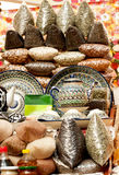 Oriental sweets on market. Stock Photo