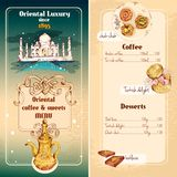 Oriental sweets menu Royalty Free Stock Photos