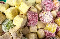 Oriental sweets. On a metal dish close up stock photo