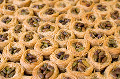 Oriental sweets with pistache Stock Photography