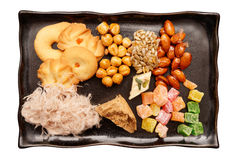 Oriental sweets on plate Royalty Free Stock Images