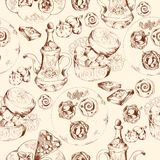 Oriental sweets seamless pattern Royalty Free Stock Photography