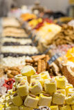 Oriental sweets , showcase Royalty Free Stock Photo