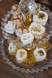 Oriental sweets. Turkish delight royalty free stock images
