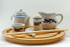 Oriental tableware composition Stock Photo