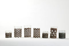 Oriental tea glasses Stock Images