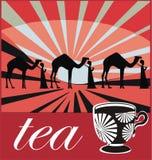 Oriental tea label Stock Images