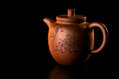 Oriental Tea-set 3. This is an original old tea pot from the far east Stock Photo