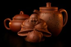Oriental Tea-set 5. This is an original old tea-set from the far east Stock Photography
