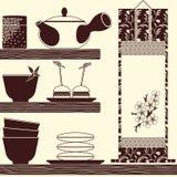 Oriental tea time Stock Photo