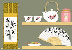 Oriental teaware Royalty Free Stock Photography