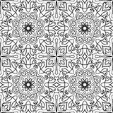 Oriental template for tile. Filigree  pattern. Oriental black and white ornament. Abstract template for carpet, shawl, tile, textile Stock Image