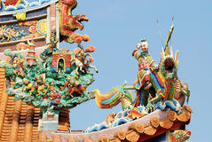 Oriental temple  roof. Stock Images