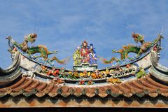 Oriental temple roof. Temple roof architecture in asia Stock Images