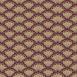 Oriental texture. Repeated, brown flowers vector illustration