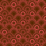 Oriental texture with ornamental circles Stock Photos