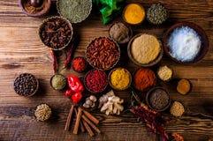 Oriental theme with seasoning Stock Image