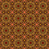 Oriental Tile Pattern. Seamless colorful ethnic pattern. Abstract geometric elements on tribal fantasy ornament. Bright hot colors. Endless background Royalty Free Stock Photography