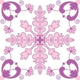 Oriental tile seamless pattern. Pink floral background. Portuguese moroccan motif. Can be used for wallpaper, pattern fills, web p Royalty Free Stock Photography
